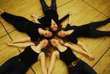 (clockwise) Sonya Vallis, Norah Paton, Samantha Megarry, Miriam Cummings, Lindsey Huebner
